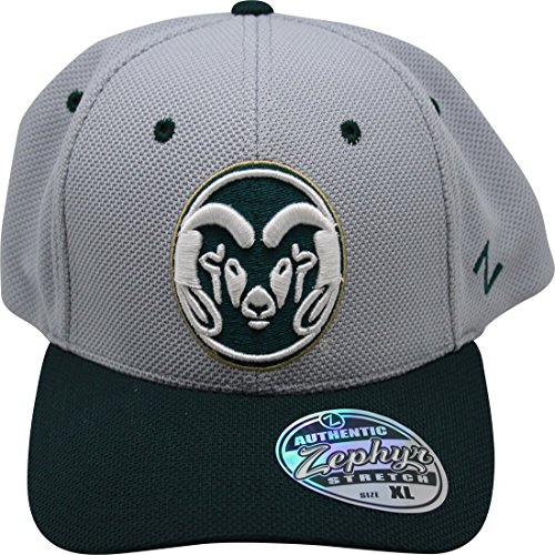 NCAA Zephyr Colorado State Rams Fitted Hat XL Cap Gray - Fitted Zephyr College Cap