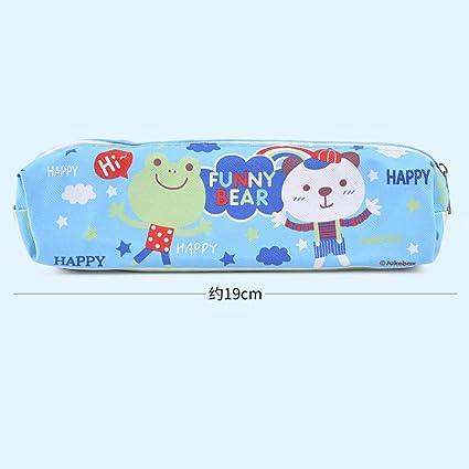 Bolsa para bolígrafos, estuche grande para lápices, bolsa de papelería, color Rainbow Bear Blue 19.5 x 4.5cm: Amazon.es: Oficina y papelería