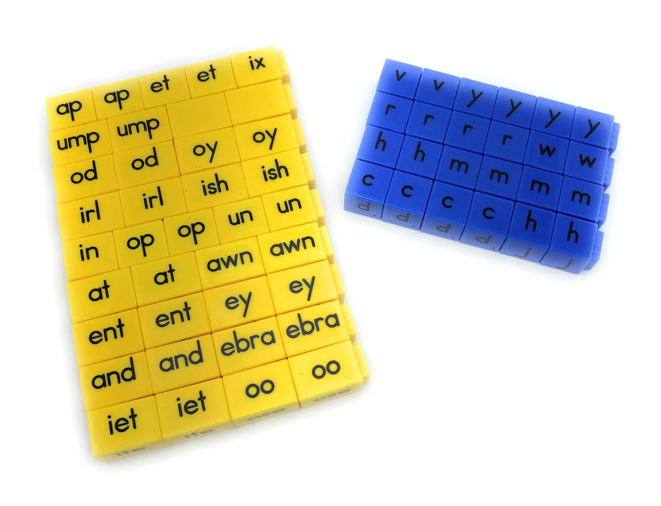 ETA hand2mind Reading Rods - Initial Consonant Letters and Word Families Linking Cubes
