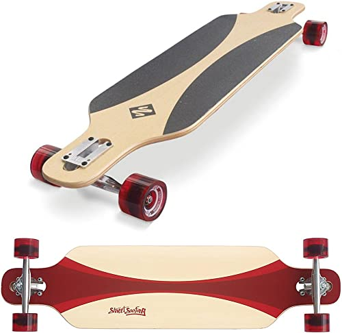 Street Surfing Freeride Carving Longboard, 39 , Red
