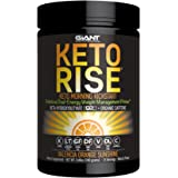 Keto Rise - Exogenous Ketone Powder with Organic Caffeine - Keto Morning Energy Formula Designed for Ketogenic Diet Support, Mood Boost and Fat Burn - 15 servings. Amazing Valencia Orange Flavor.