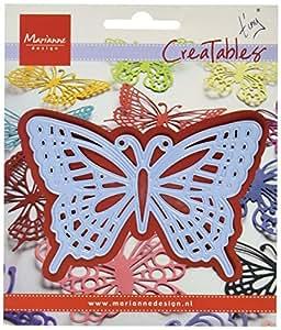 Marianne Design - Troquel (forma de mariposa, 3 unidades), color azul