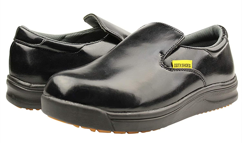 DDTX Chef Work Kitchen Nurse Shoes Unisex SRC Anti-Slip Oil and Water Resistant Lightweight Black//White 4.5-13US