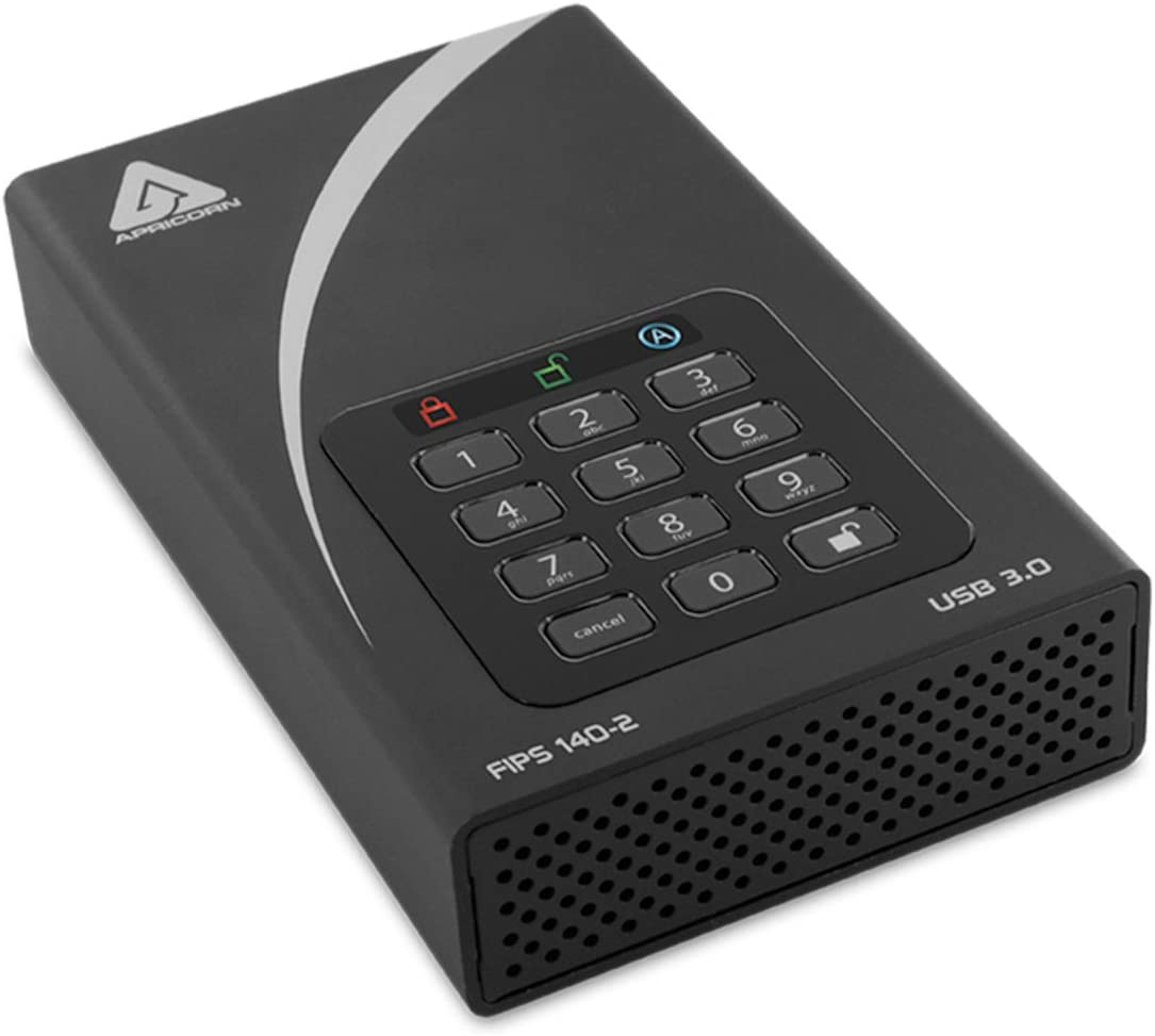 Apricorn Aegis Desktop 2 TB FIPS 140-2 Validated 256-Bit Encrypted Hard Drive (ADT-3PL256F-2000)