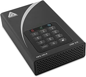 Apricorn Aegis Desktop 4 TB FIPS 140-2 Validated 256-Bit Encrypted Hard Drive (ADT-3PL256F-4000)