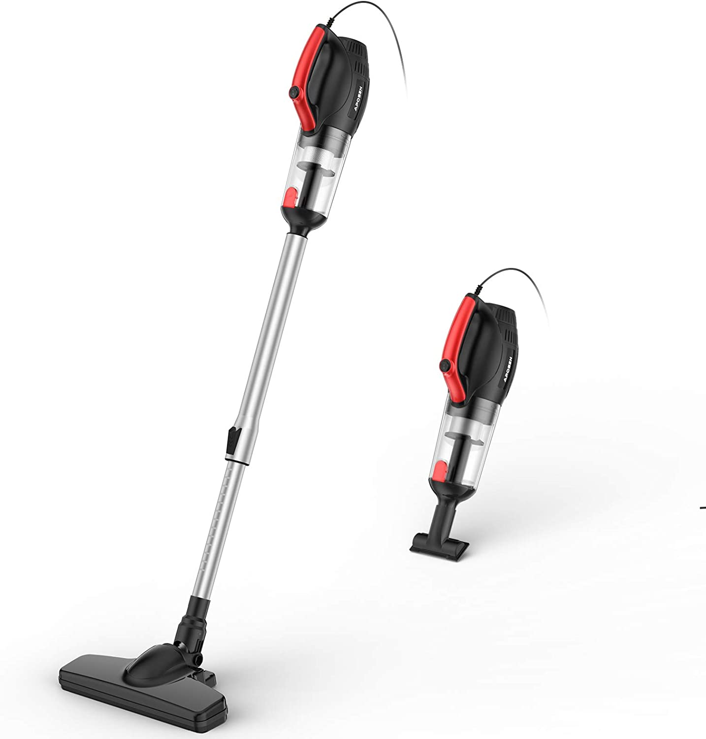 APOSEN Vacuum Cleaner, 500W Powerful Suction, 4-in-1 Stick Vacuum Cleaner with HEPA Filters for Hard Floor Lightweight Home pet Hair