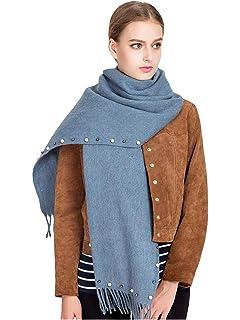 ebf68fee457c DAMILY Hiver Écharpe Chaud Solide Couleur Cachemire Feel Foulard Châle  Élégant Wraps Pour femme