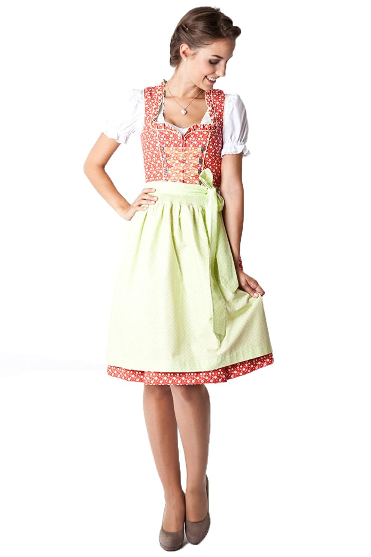 Ludwig und Therese Damen Trachten Dirndl Noelle rot grün 11272