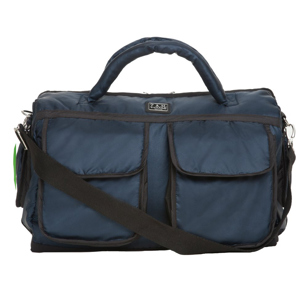 7AM Enfant Voyage Diaper Bag, Metallic Prussian Blue, Large