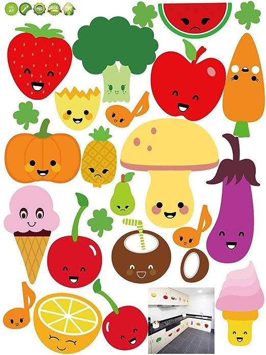 Wall Sticker Fruits Cartoon Art Vinyl Decal Home Décor 30 cm x 120 cm