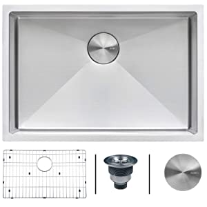 Ruvati 28-inch Undermount 16 Gauge Tight Radius Stainless Steel Kitchen Sink Single Bowl - RVH7250