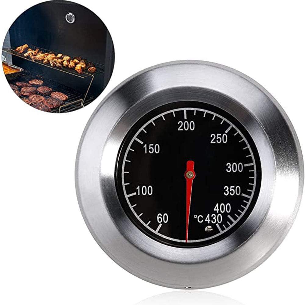 A BBQ Termómetro para Todas Las Barbacoas, Medidor de Termómetr de Barbacoa, BBQ Termómetro, Termometro Bimetallico in Acciaio Inossidabile per Forno e Microonde