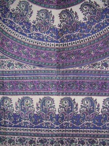 India Arts Jaipur Paisley Cotton Tablecloth 88