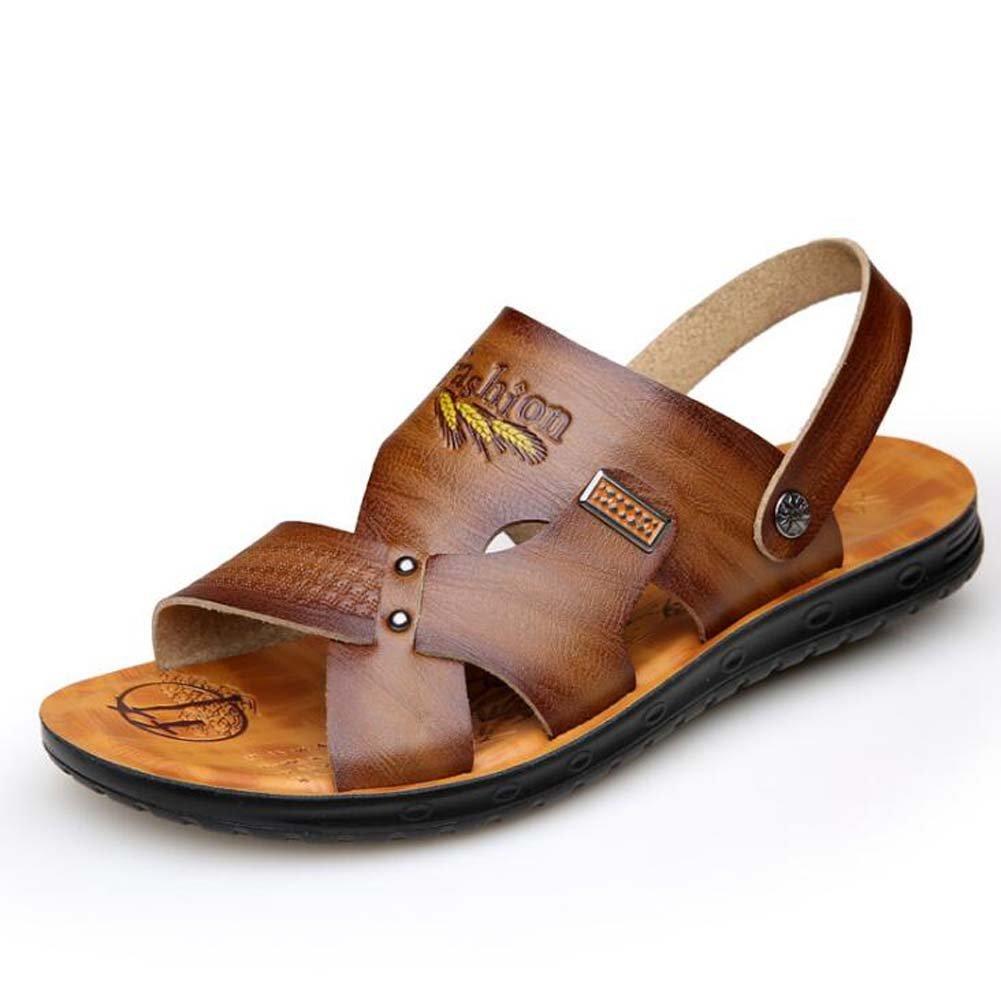 Männer Sandaleen Casual Rutschfeste Sandaleen Sommer Strand Schuhe Trend Jugend Sandaleen Hausschuhe Braun/Gelb/Khaki Größe 38-44 Outdoor