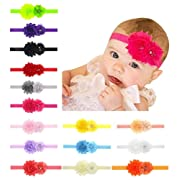 Toptim Baby Girl's Headbands and Crystal Flower for Photographic Accessories