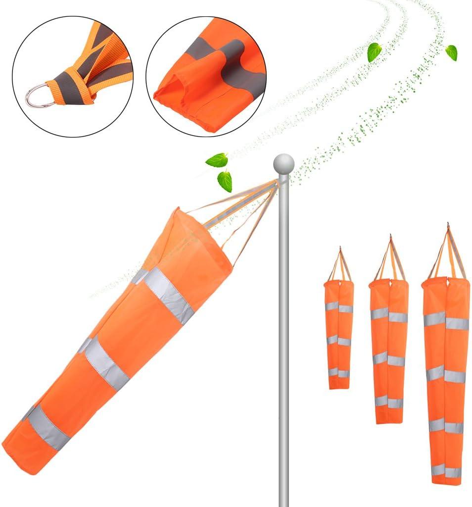 JENOR 80//100//150/cm Aviation r/éfl/échissant Ceinture Manche /à air ext/érieur Rip-Stop Wind Sock Sac 0.8
