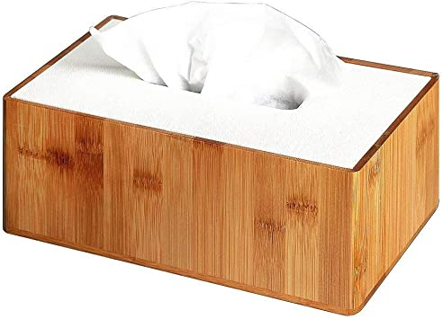 US Wooden Tissue Box Dispenser Cover Paper Storage Case Napkin Holder Organizer