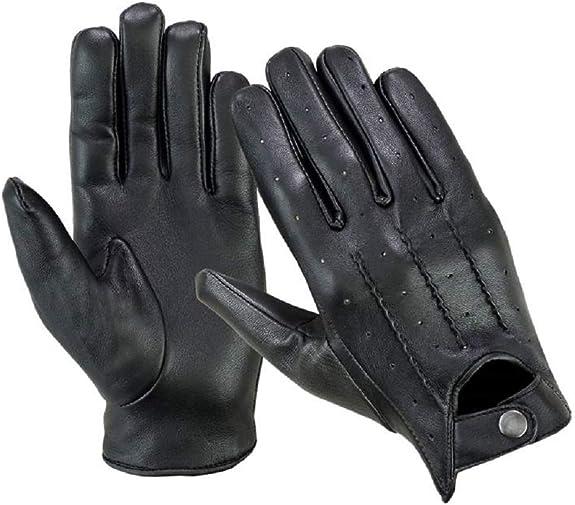 Classique pour Homme Cuir Souple v/éritable Gants de Conduite Robe Mode Moto Gant Style Vintage Ln101