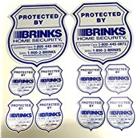 No Post 2 Authentic Reflective Home Security Signs and 8 Refective Stickers