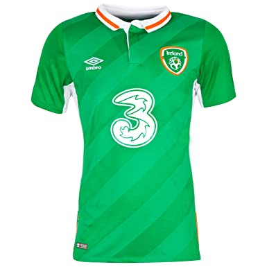 609b8a3aed8 Umbro Men s FAI Euro Republic of Ireland Home Soccer Jersey Green (Large)