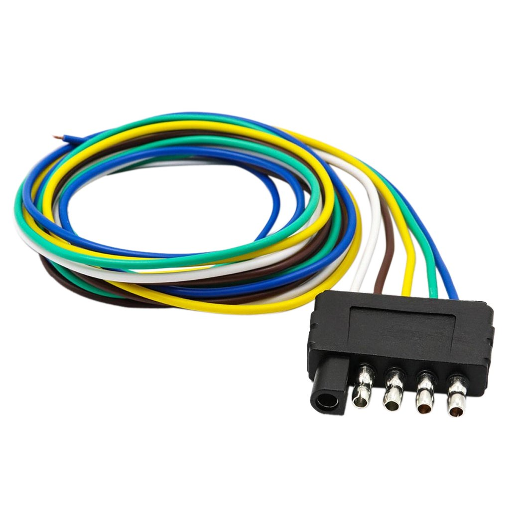 Jili Online 5 Pin Trailer Flat Plug 960mm Wiring Harness Wesbar Wire Diagram Connection Kits For Boat Car Rv American Style Black 1 Automotive