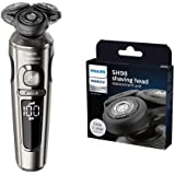 Norelco Series 9000 Sbaver, SP9860/86 Electric Shaver with SH98/72 Replacement Blade and SmartClick Precision Trimmer - Bundl