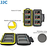 JJC MC-CF6 Sturdy and Rigid Memory Card Storage Case fits 6 x CF / CompactFlash Cards