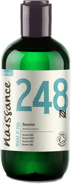 Naissance Sésamo BIO - Aceite Vegetal Prensado en Frío 100% Puro - Certificado Ecológico - 250ml