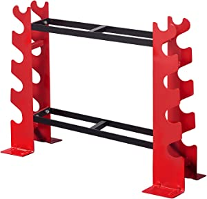 FISUP Dumbbell Rack Stand Only for Home Gym Weight Rack for Dumbbells, 22.04 x 9.05 x 28.3 inches, 330 LBS Weight Capacity