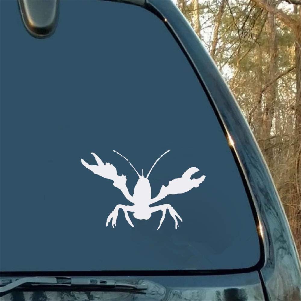 Etiqueta engomada del cangrejo de río Etiqueta engomada del coche Barco que pesca accesorios criollos del carro del sur para la etiqueta engomada de la ventana del ordenador portátil del coche