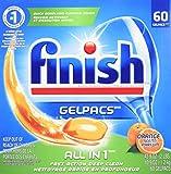 Finish Gelpacs Dishwasher Detergent, Orange Scent, 60-Count
