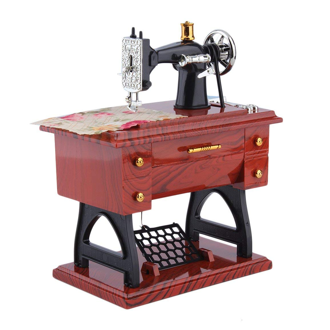 Fantasyworld Mini lockwork Vintage Sewing Machine Music Box ...