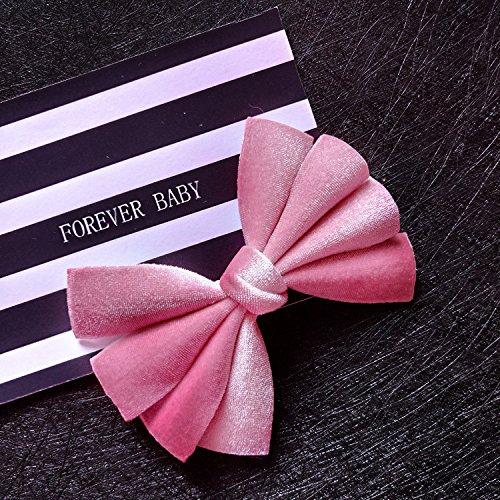 usongs Hand-tailored velvet bow hairpin childrens hair accessories