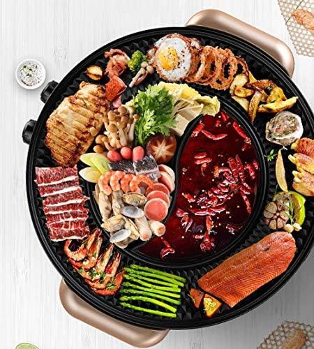 Korean Barbecue Hot Pot Pot Double Encastrable Pot électrique Hot Pot électrique Barbecue électrique de Cuisson Moule