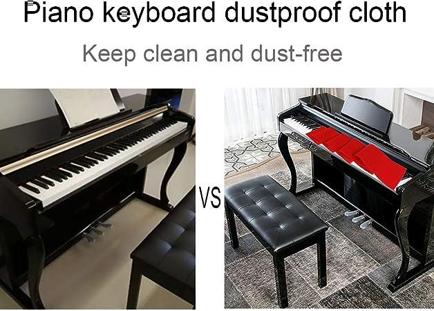 Klavierdecke Klavier Tastatur Decke Klavierabdeckung 128 x15cm Rot