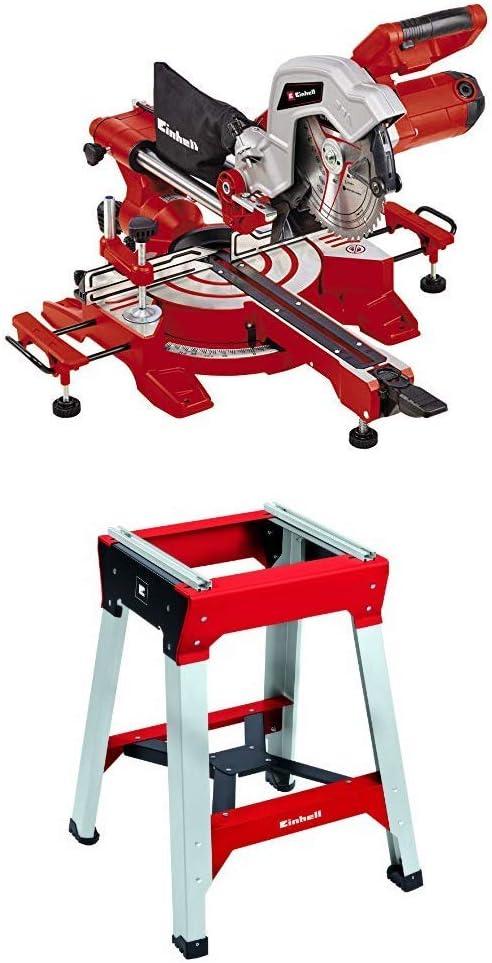 Einhell 4300380 TC-SM 216 Zug-Kapp-Gehrungss/äge Untergestell E-Stand f/ür Einhell Classic und Expert Kapp- und Zug-Kapp-Gehrungss/ägen sowie viele weitere Modelle am Markt Rot Schwarz