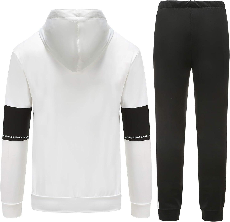 Yingqible Uomo Giacche Invernali Manica Lunga Collo Zips//Pullover Casual Jogging Palestra Set Sportiva Felpa E Pantaloni 2 Pezzi Tute