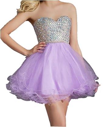 Light Purple Prom Dresses Open Back