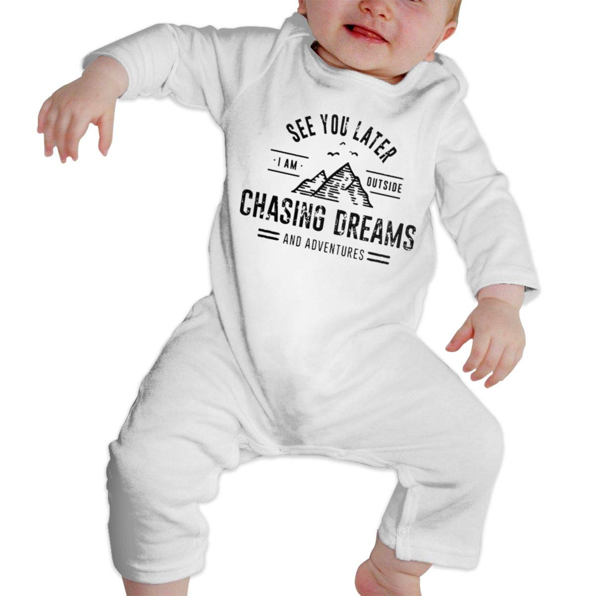 Fasenix Chasing Dreams Newborn Baby Boy Girl Romper Jumpsuit Long Sleeve Bodysuit Overalls Outfits Clothes