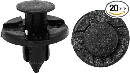 """Car Door Fender 8mm Hole 0.31/"""" Dia Plastic Rivets Retainer Clips Black 50 Pcs"""