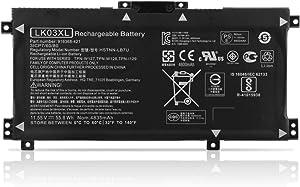 ANTIEE LK03XL Laptop Battery for HP Envy X360 15-BP000 15-BP107TX 15M-BP000 15M-BP012DX 15-BP100TX Envy 17 17-AE143NG 17M-AE011DX 17M-AE0XX 17T-AE100 2RX66AV 916368-541 TPN-W127 11.55V 55.8Wh
