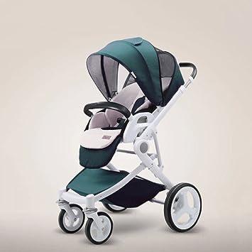 LZTET Alto Paisaje Cochecito De Bebé Portátil Carro Plegable 0-36 Meses Bebé Carro Bidireccional Infantil Sistema De Viaje Carrito Cuatro Estaciones ...