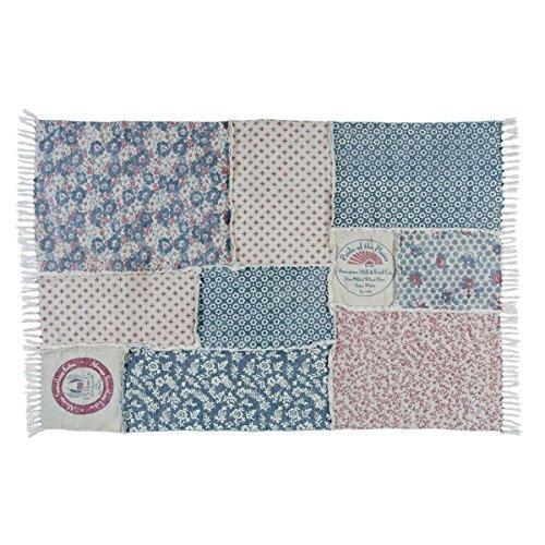 Patch Rug Vintage (VHC Brands Farmhouse Flooring - Millie White Patchwork Rug, 4' x 6')