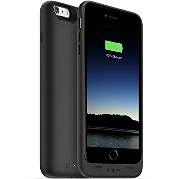 Mophie Juice Pack - Carcasa para Apple iPhone 6 Plus (con batería de 2600 mAh), Color Negro