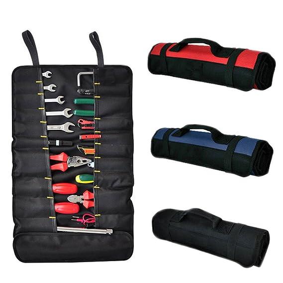 Meltset Portable Multipurpose Oxford Roll Tool Bag Waterproof Foldable Hardware Repair Tool Storage Pouch Organizer