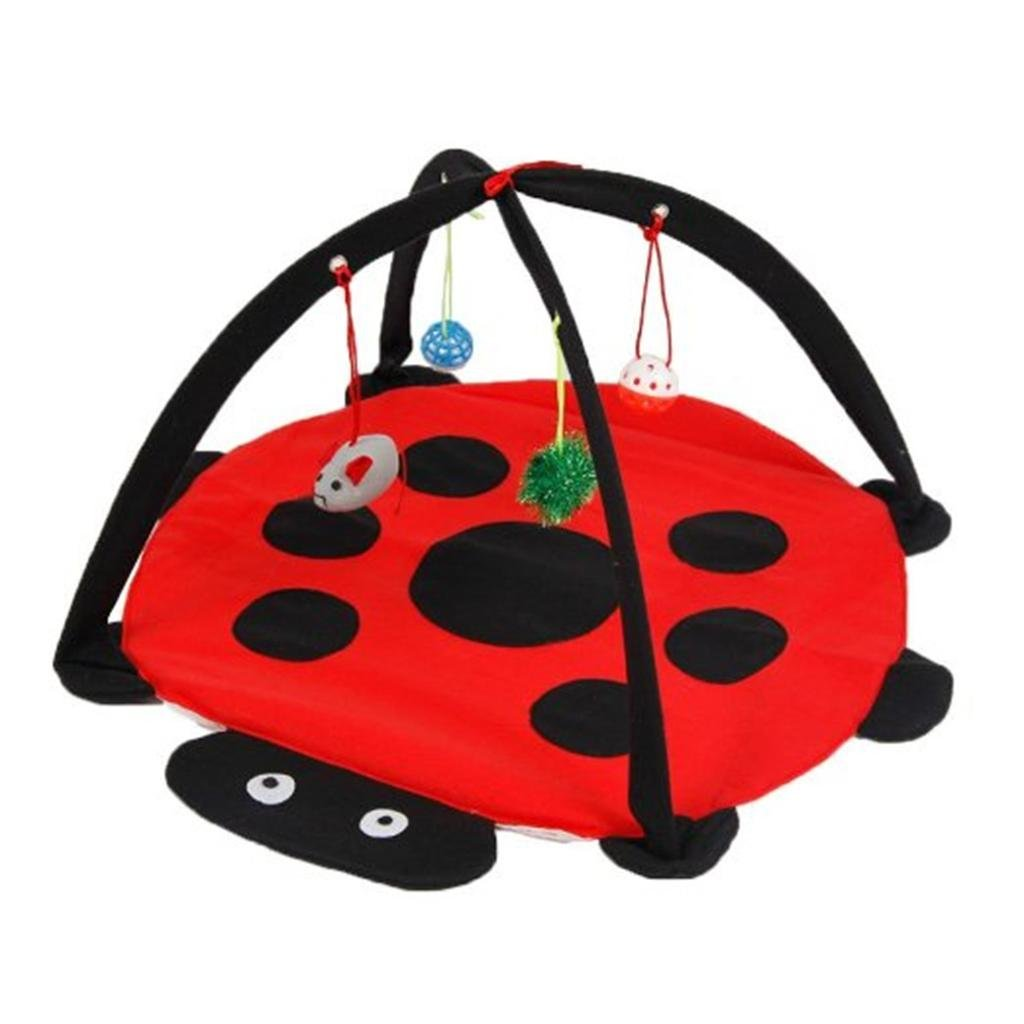Lovely summer Foldable Cat Activity Center with Hanging Toy Balls Mice More Toys Cat Toy