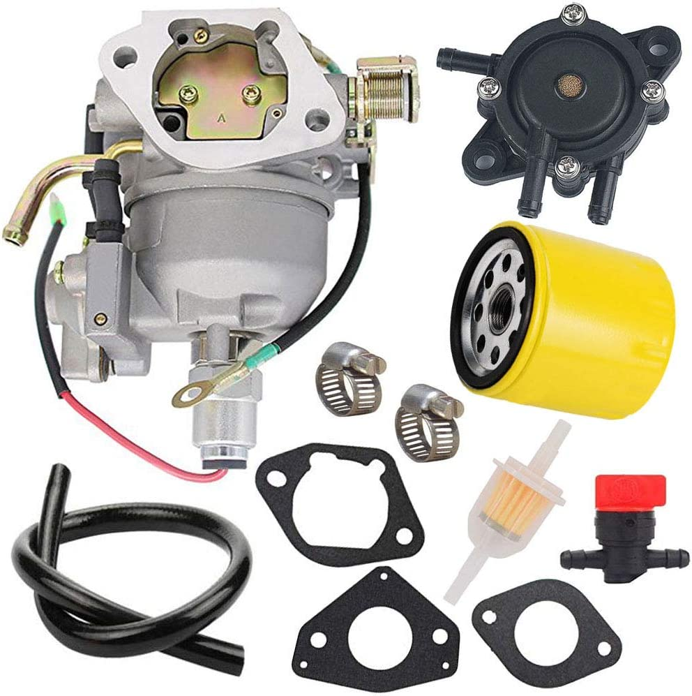 TOPEMAI CV730S Carburetor with Fuel Pump Oil Filter Replaces 24853102-S 24-853-102-S for Kohler CV730 CV740 CV740S Engine with Specs 0029 0039