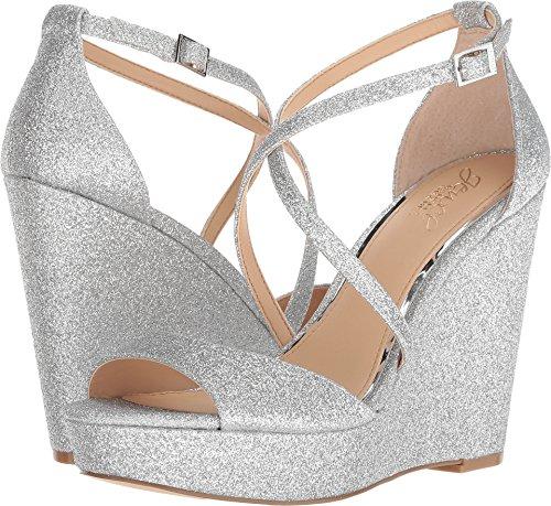 Badgley Mischka Jewel Women's Averie Silver 8 M US