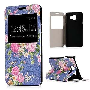 Funda Samsung Galaxy A3 2016, BADALink Funda de cuero PU original para Samsung Galaxy A3, diseño 2016 tapa Protective Case Cover (doble ventana, función atril, tarjetas) tarjetas, diseño Dreamcatcher