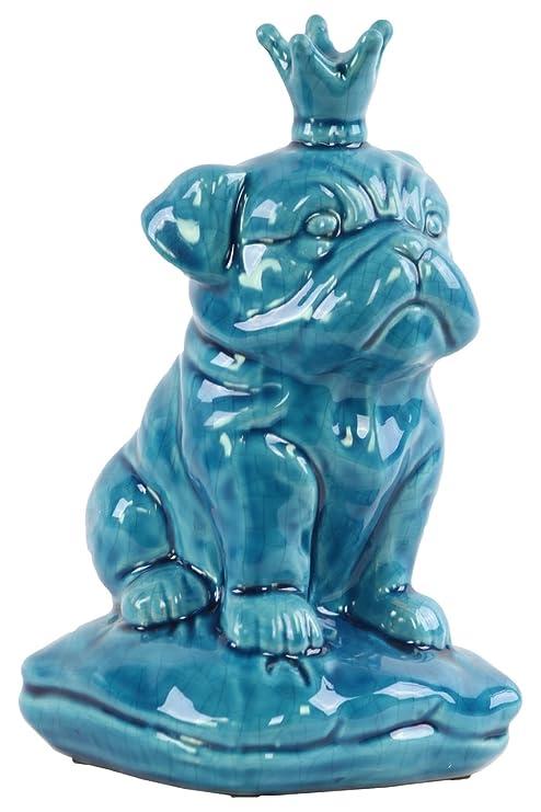 Amazon.com: Urban Trends British Bulldog – Figura decorativa ...